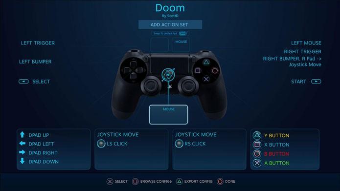 O suporte vai permitir que você configure os botões do DualShock 4 no PC (Foto: Divulgação/Steam)