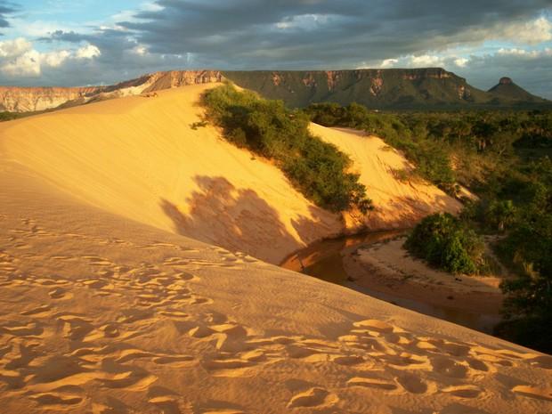 Dunas do Jalapão: deserto no cerrado tocantinense (Foto: Sydney Neto/TV Anhanguera)
