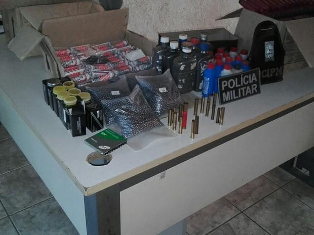 Material é de uso restrito  (Foto: Divulgação/ Polícia Militar)
