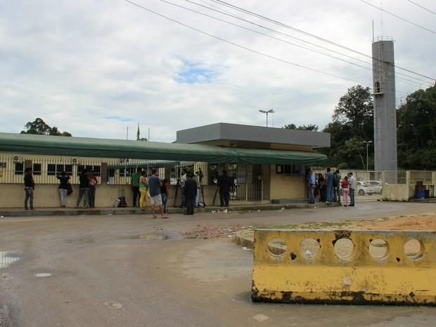 Um dos motins foi registrado no Ipat (Foto: Suelen Gonçalves/ G1 AM)