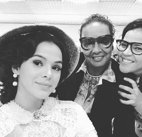 Bruna Marquezine em bastidor de novela (Foto: Reprodução/Instagram)
