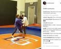 Ronda Rousey dá aula de judô para filho de treinador de wrestling