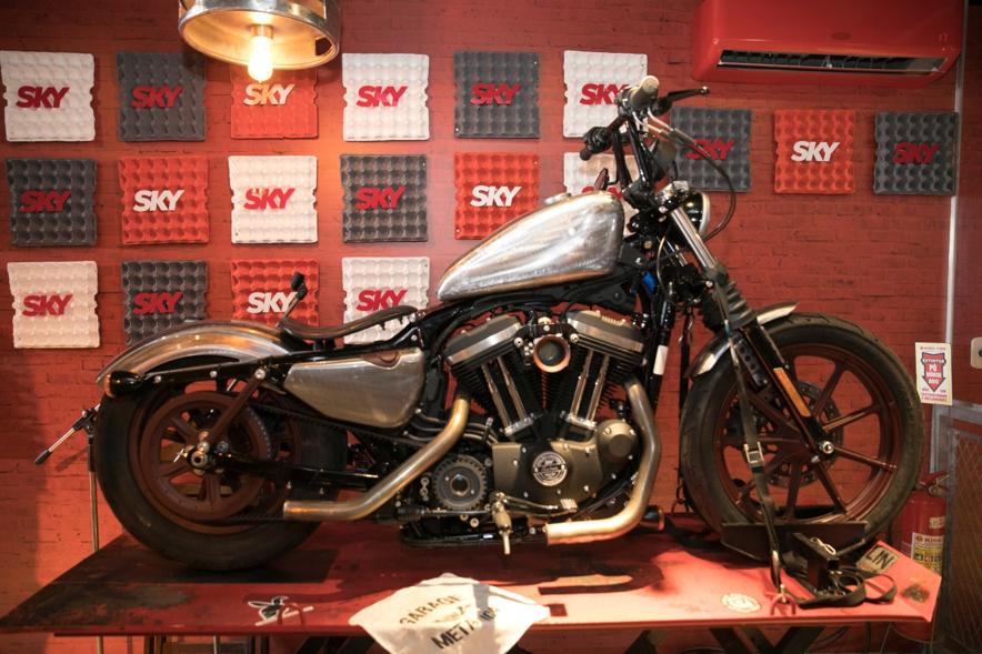Uma das Harley-Davidson customizadas durante o Rock in Rio (Foto: Divulgação)