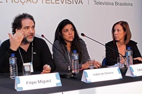Filipe Miguez, Izabel de Oliveira e a pesquisadora Leusa Araújo (Foto: Divulgação)