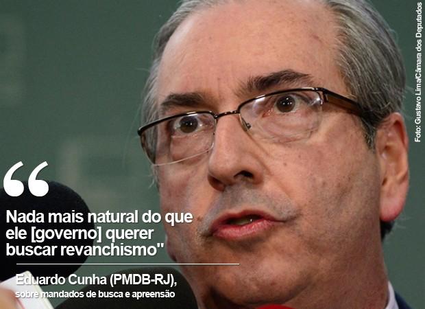 O presidente da Câmara, Eduardo Cunha, fala sobre mandados de busca e apreensão (Foto: Foto: Gustavo Lima/Câmara dos Deputados)
