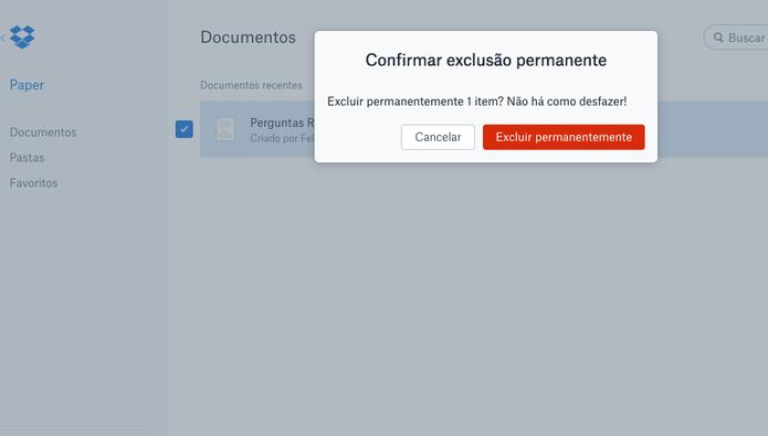 Ainda não há limitações no Dropbox Paper (Foto: Reprodução/Felipe Vinha)