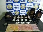 GCM apreende mais de 250 porções de drogas em Tatuí, SP