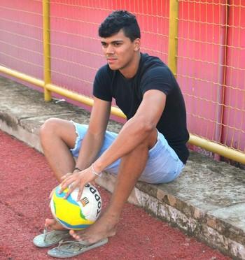 Matheus Pato, atacante do Fluminense sub-20 (Foto: Duaine Rodrigues)