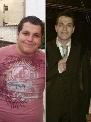 Mauro Oliveira antes e depois da rotina de exercícios físicos (Foto: Arquivo pessoal)