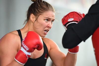 Ronda Rousey; treino aberto; UFC 193; Austrália (Foto: Getty Images)