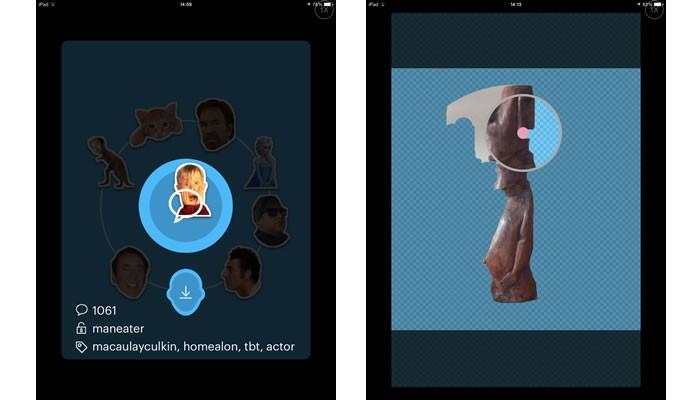 Oferecendo variedade de imagens pública, o imojiapp permite que os usuários criem emojis personalizados (Foto: Reprodução/Daniel Ribeiro)
