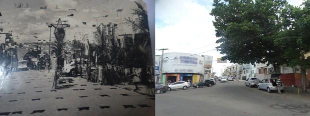 Rua 3 de maio, em Caruaru (Foto: Marinete Lira/Arquivo Pessoal/Joalline Nascimento/G1)