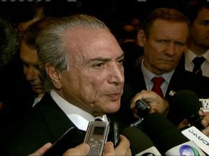 Michel Temer  (Foto: Reprodução Globo News)
