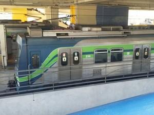 Duas pessoas morreram em vagão do metrô em investida criminosa nesta segunda (31) (Foto: Gabriela Lisboa / TV Globo)