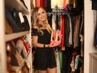 Thaeme abre o closet e confessa: 'Meu marido ama roupa de periguete'