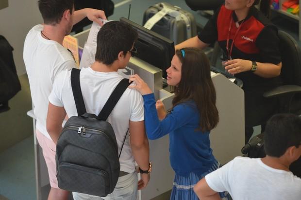 Enzo Celulari e a irmã, Sofia (Foto: William Oda / AgNews)