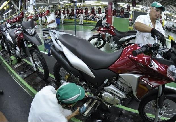 Emprego ; produção industrial ; indústria ; fábrica de motocicletas ; trabalhador ; PIB do Brasil ;  (Foto: Arquivo/Agência Brasil)