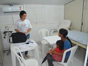Após abertura, UBS ofereceu ação de saúde no arquipélago (Foto: John Pacheco/G1)