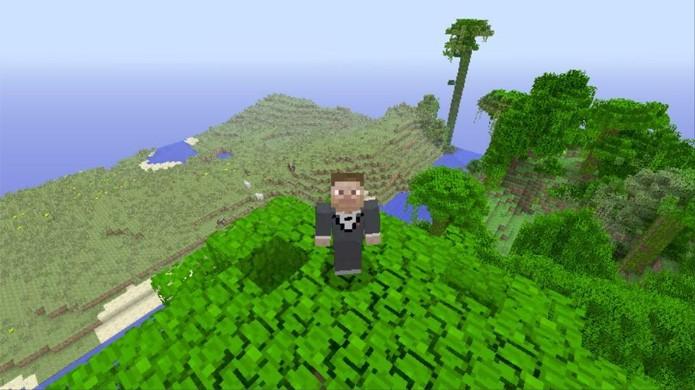 Com a roupa certa você pode se aventurar em Minecraft com estilo (Foto: Reprodução/YouTube)