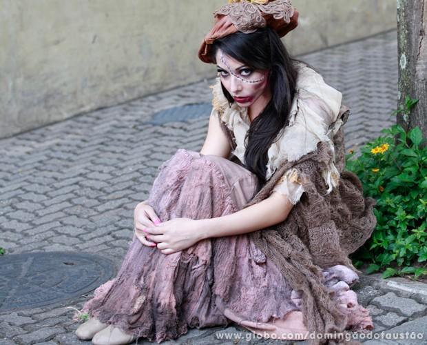 Ana Júlia também entrou na personagem (Foto: Ellen Soares / TV Globo)