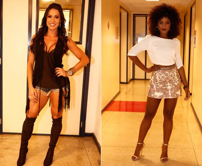 Gracyanne Barbosa e Érika Januza esbanjam estilo (Foto: Inácio Moraes/ Gshow)