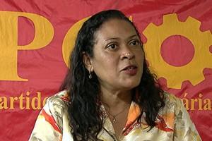A candidata Cleide Donária (PCO) foi hostilizada e agredida por defender o fim da Polícia Militar (Foto: Divulgação)