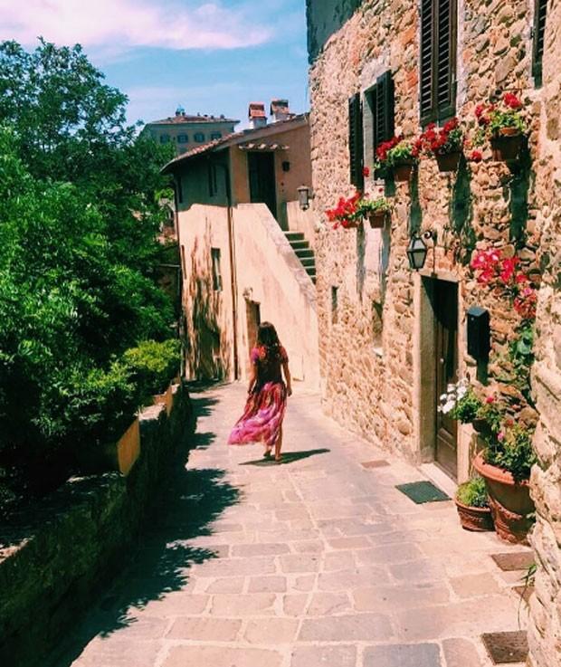 Mariana Goldfarb na Toscana (Foto: Reprodução)