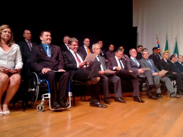 Cerimônia de diplomação de prefeito e vereadores eleitos em Piracicaba (Foto: Edijan Del Santo/EPTV)