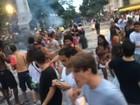 Guarda Municipal reprime blocos na escadaria da Câmara do Rio