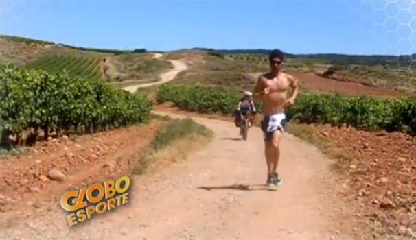 Globo Esporte Caminho de Santiago de Compsotela (Foto: Reprodução/ RPC TV)