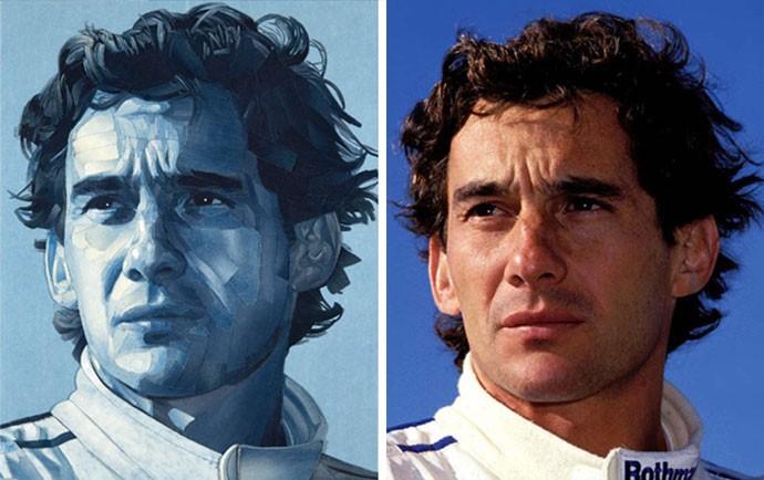Desenho Ayrton Senna 1994 (Foto: Desenho: Ian Berry / Foto: Jean-François Galeron)