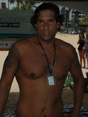 Leonardo Borba, vencedor da Travessia Cabo Branco-Picãozinho (Foto: Larissa Keren)