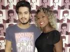 Luan Santana é tietado por ex-BBBs em show no Rio