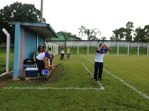Técnico do Araguaína, Ney César acredita que derrota não vai desanimar o time (Foto: Vilma Nascimento/GloboEsporte.com)