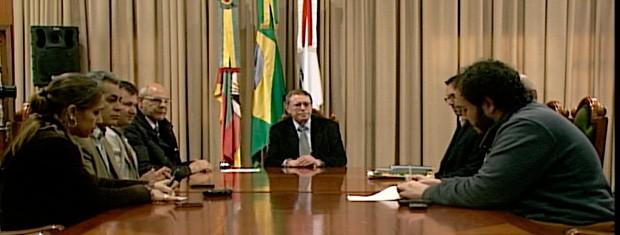Reunião nesta quarta definiu antecipação de férias (Foto: Reprodução/RBS TV)