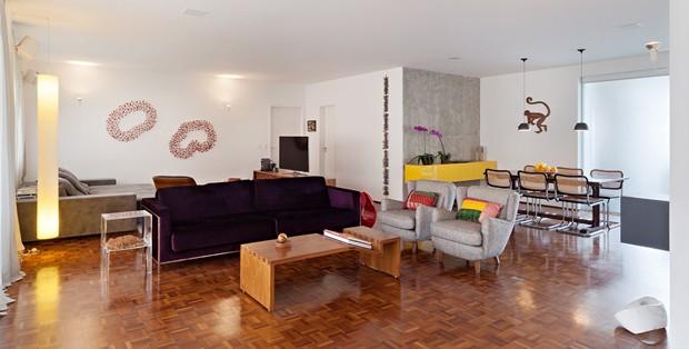 Apartamento de 1970 ganha nova configuração mais ampla  (Foto: Divulgação)