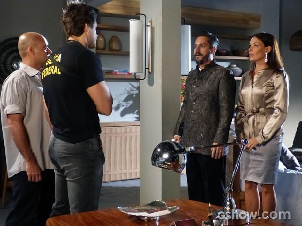 Tereza e Hermes são presos (Foto: Além do Horizonte/TV Globo)