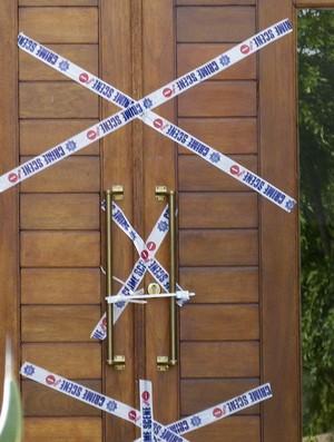 casa oscar pistorius lacrado pela políia (Foto: Agência Reuters)