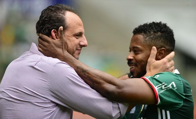 Palmeiras x São Paulo Rogério Ceni Michel Bastos (Foto: Marcos Rilbolli)