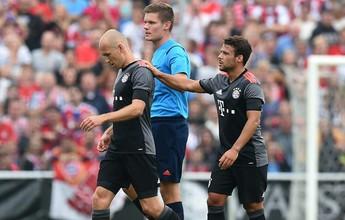 Robben sofre lesão na estreia de Ancelotti e vai parar por seis semanas