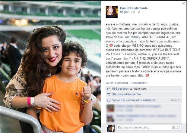 Daniela Bustamante (Foto: Reprodução/ Facebook)