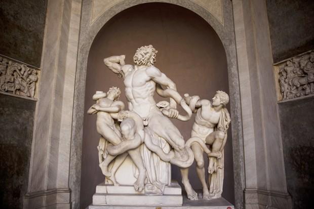 Grupo de Laocoonte, escultura exposta no Museu do Vaticano (Foto: Dan Kitwood/Getty Images)