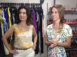 Fátima Bernardes e Dani Monteiro (Foto: Vídeo Show/TV Globo)