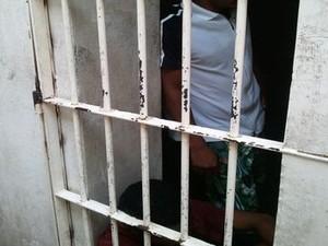 Prisão da Delegacia Planontonista de Aracaju (SE) (Foto: Flávio Antunes/G1 SE)
