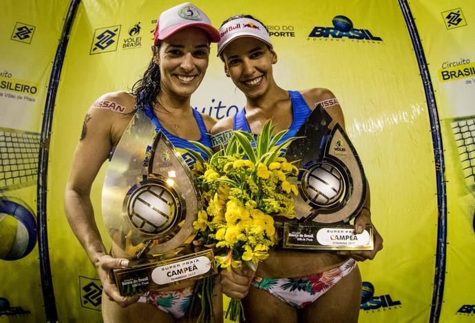 Ágatha e Duda conquistaram o Superpraia em Niterói (Foto: Daniel Zappe/MPIX/CBV)