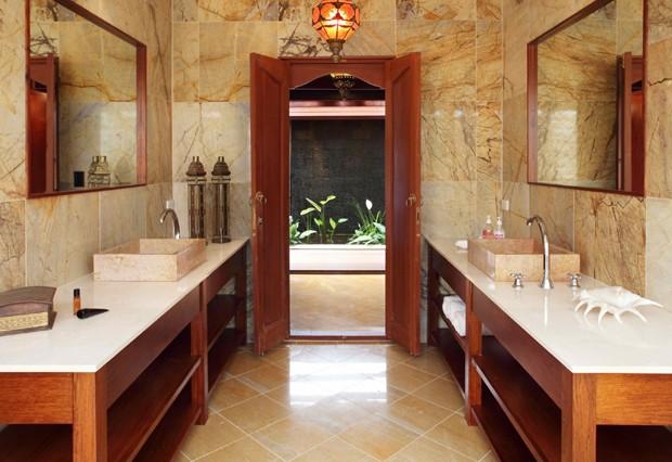 Banheiro do resort que Justin Bieber está hospedado (Foto: Reprodução)