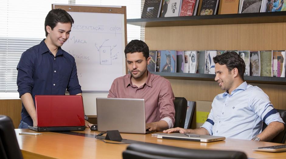 Thiago Miashiro, Marcelo Reis e Vinicius Grein: o trio comanda a Quantum  (Foto: Divulgação)