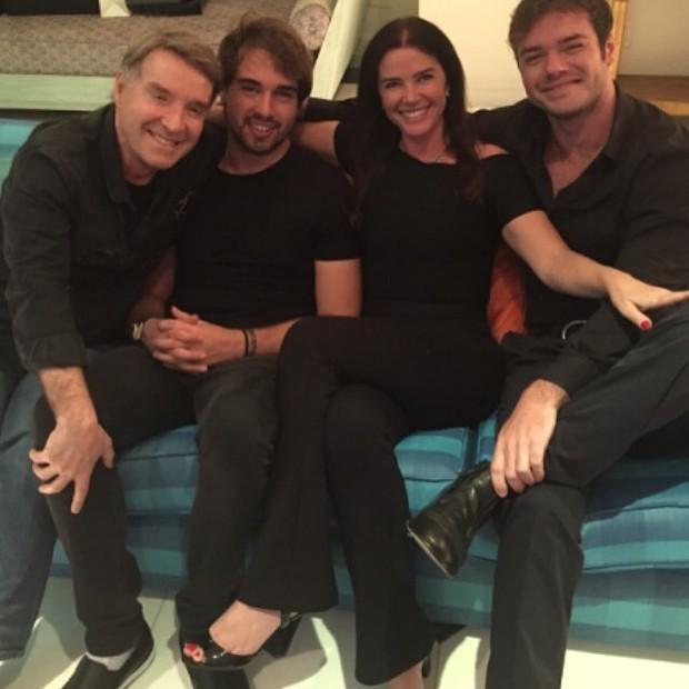 Eike Batista, Olin, Luma de Oliveira e Thor (Foto: Reprodução/Instagram)