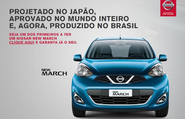 Nissan faz pré-reserva do New March (Foto: Reprodução)