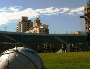 treino, figueirense, figueira, orlando scaperlli, (Foto: Renan Koerich)